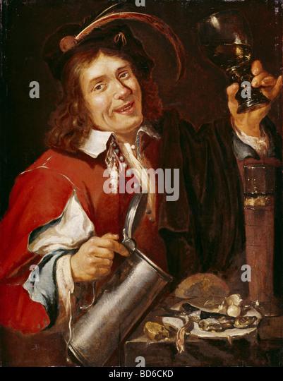 fine arts, Noort, Pieter van (1529 - circa 1650), painting, 'The Taste', series 'The Five Sences', - Stock Image