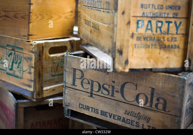 Drinks crates stock photos drinks crates stock images - Crate and barrel espana ...