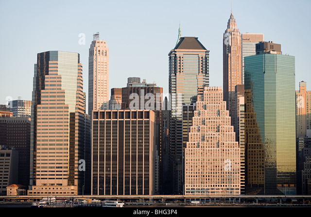 Manhattan buildings - Stock Image