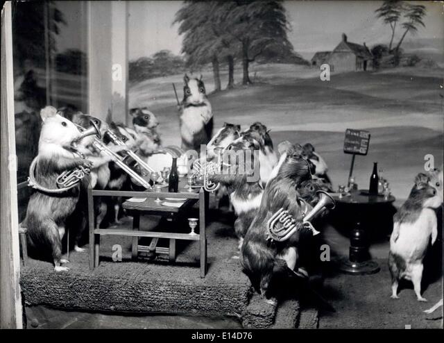 Apr. 17, 2012 - The Guinea pigs cricket match: This tableau depicts a village fete, complete with band, pictures - Stock Image