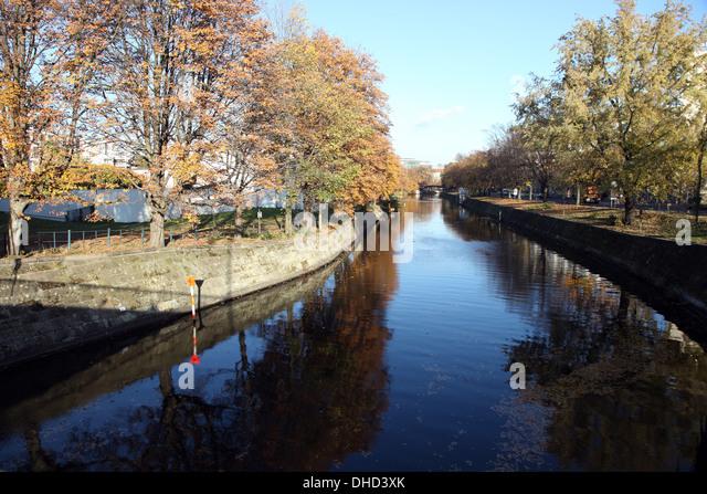 Landwehrkanal, site of Bauhaus Archive Berlin - Stock-Bilder
