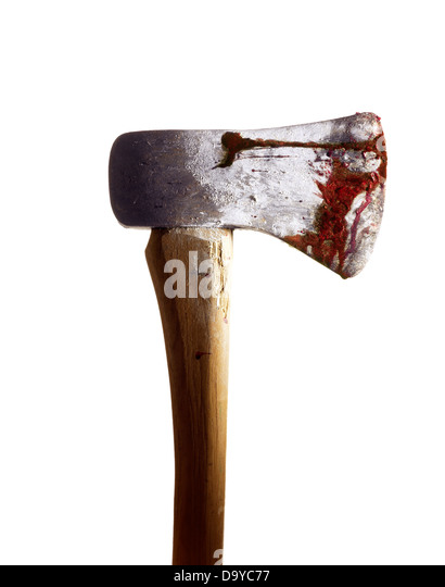 Bloody Ax - Stock Image