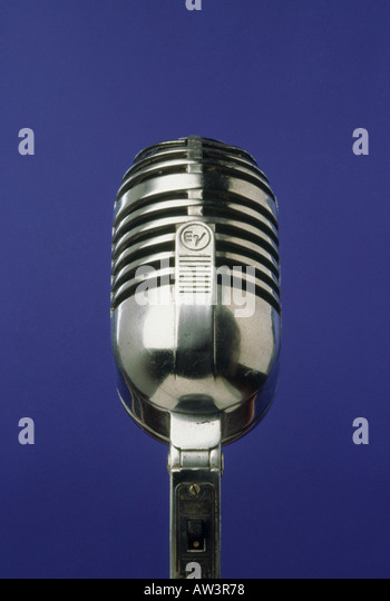 MICROPHONE Classic EV model from 1950s - Stock Image