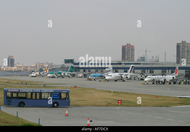 London City Airport England United Kingdom - Stock Image