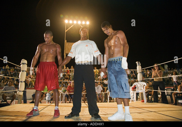Amateur Boxing in Belize - Stock Image