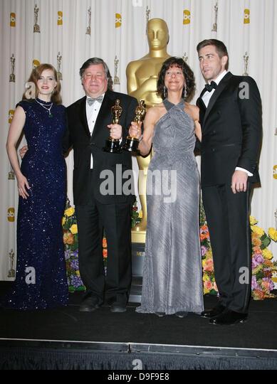 Amy Adams, Kirk Simon, Karen Goodmem and Jake Gyllenhaal 83rd Annual Academy Awards (Oscars) held at the Kodak Theatre - Stock Image