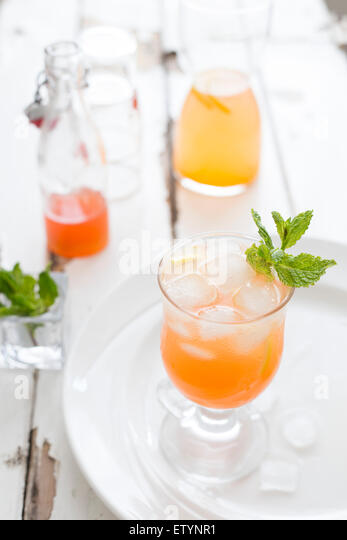 Peach Lemonade - Stock Image