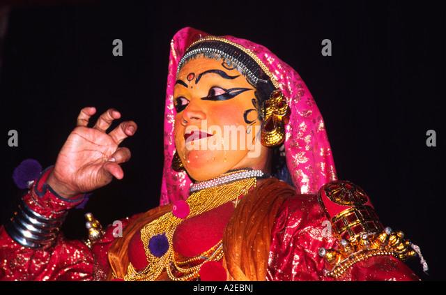 India Kerala Cochin Kathakali dance performance Indien Kerala - Stock Image