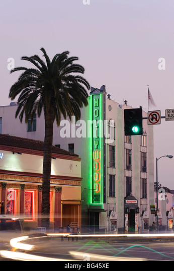USA, California, Los Angeles, Hollywood Boulevard - Stock Image