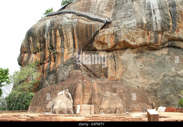 Löwentor Sigiriya - Stock-Bilder