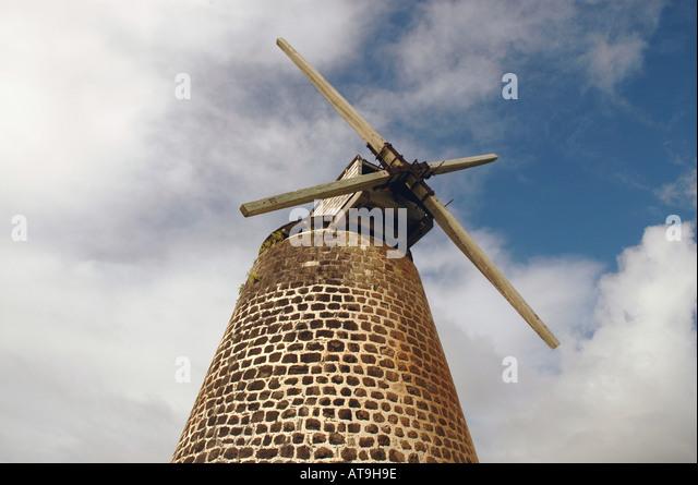 Antigua Bettys Hope windmill tower - Stock Image