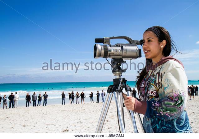 Miami Beach Florida Surfrider Foundation No Offshore Florida Oil Drilling Protest black clothing represents oil - Stock Image