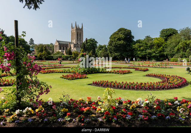 The Abbey Gardens Bury St Edmunds - Stock Image