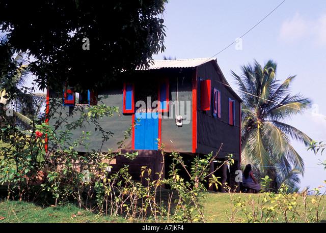 Dominica West Indies Caribbean Carib Reserve Territory Carib Home - Stock Image