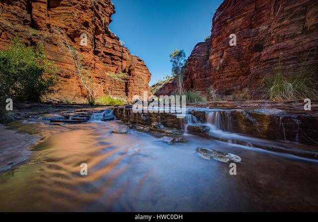 Calamine Gorge - Karijini National Park, The Pilbera, Western Australia - Stock Image