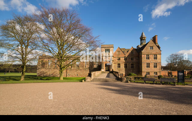 Rufford Abbey in the afternoon sunshine - Stock Image