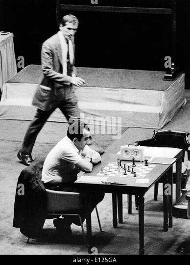 Jul 16, 2004; Buenos Aires, ARGENTINA; (File Photo 10/23/1971) Former world chess champion BOBBY FISCHER of the - Stock Image