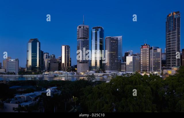 Brisbane cityscape Queensland Australia - Stock Image