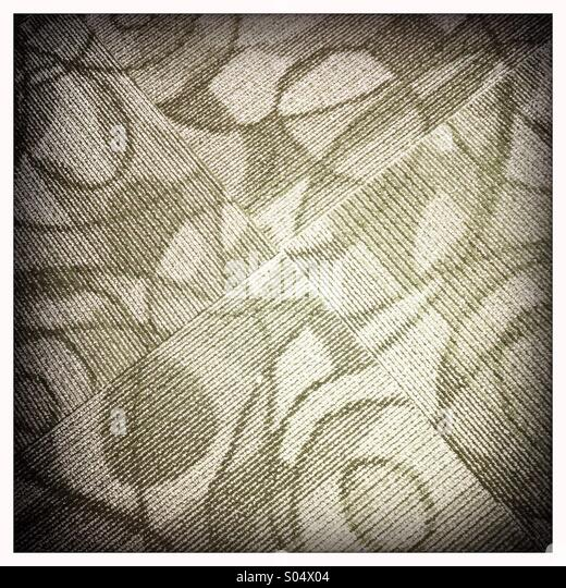 A close up view of patterned carpet - Stock-Bilder