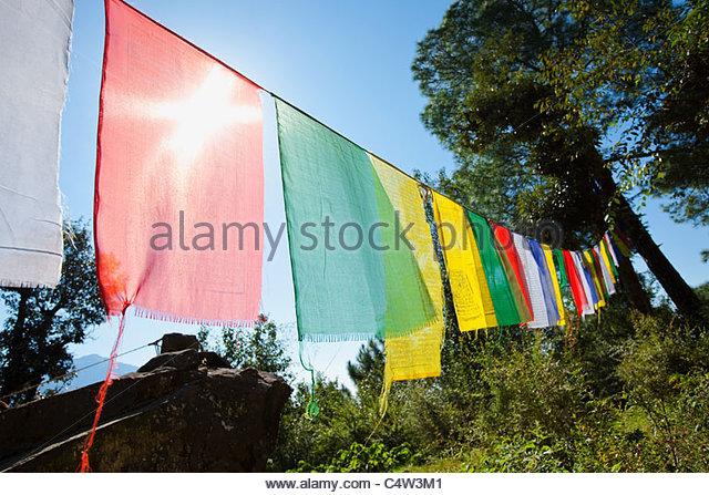 Buddhist prayer flags - Stock-Bilder