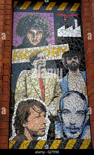 Afflecks Palace Manchester - Factory Records Tony Wilson mosaic - Stock Image