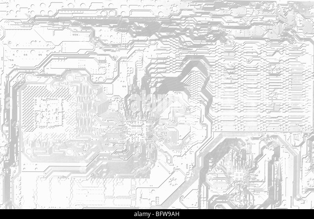 Abstract graphic electronic black and white background - Stock-Bilder