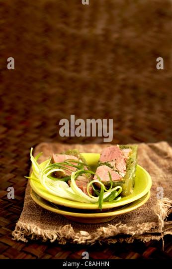 Parsley ham - Stock Image