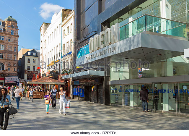 Odeon Cinema in London's Leicester Square. - Stock Image