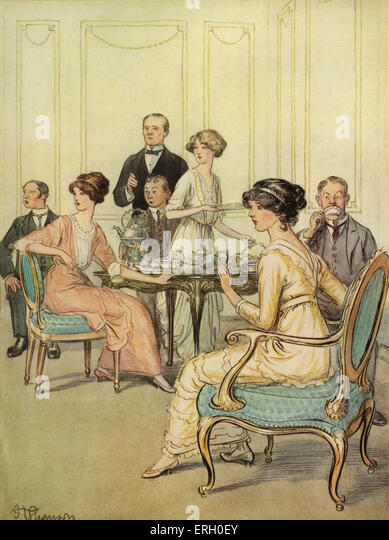 J M Barrie 'The Admirable Crichton' comedy written in 1902. Act I (At Loam House, Mayfair) : Lord Loam 'I - Stock Image