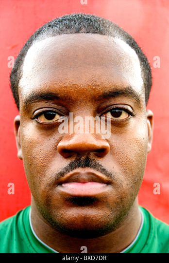 African American Athlete - Stock Image