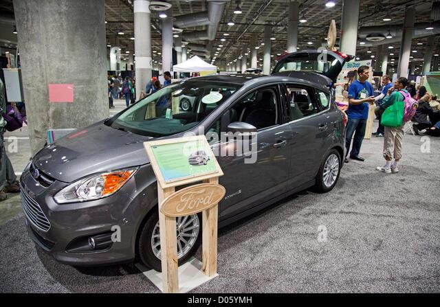 Los Angeles, California, USA. 17th November 2012. Ford 2013 C-Max Hybrid vehicle. The Los Angeles Green Festival - Stock Image