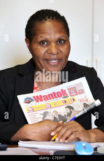Elizabeth Konga, Acting General Manager of Word Publishing Company Ltd., Wantok newspaper, Port Moresby, Papua New - Stock Image