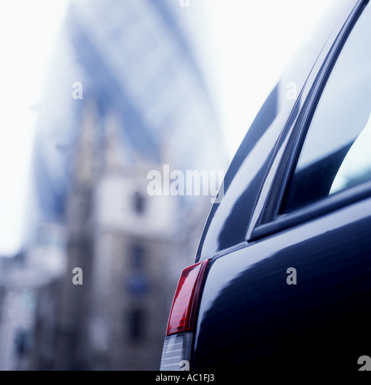 Car in the City of London - Stock Image