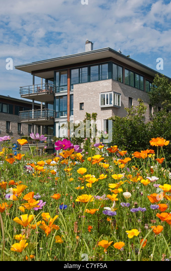 Residential architecture in Kristiansand, Norway - Stock Image