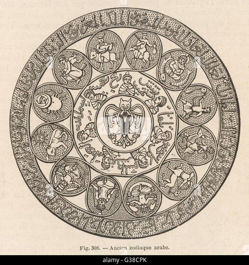 Ancient Arab zodiac - Stock Image