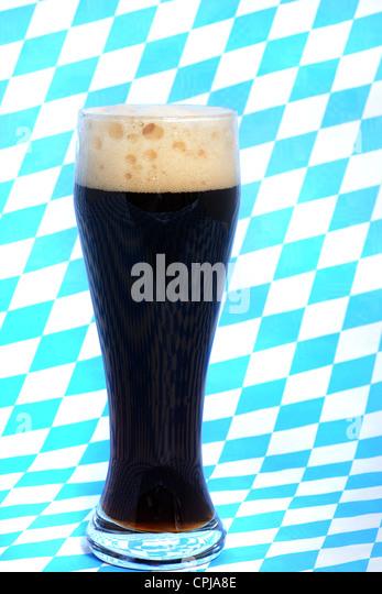 Dark wheat beer is a speciality in Bavaria - Stock-Bilder