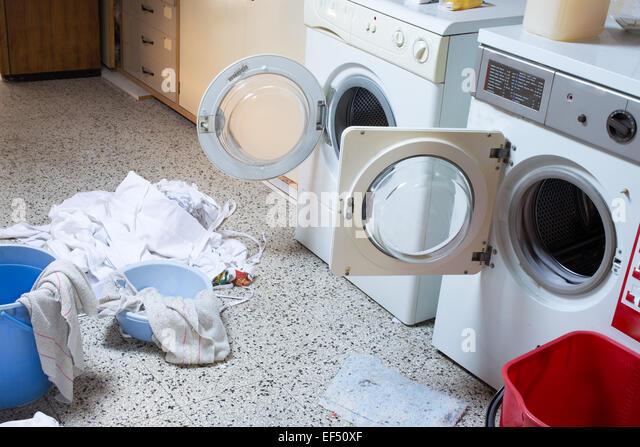 washing rags in washing machine