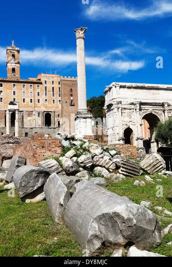 Broken Stone Pillar : Column old ruins stone stock photos