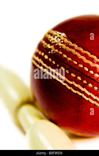 Cricket ball - Stock Image