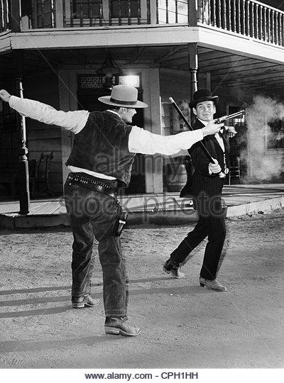 Barry, Gene, 14.6.1919 - 9.12.2009, American actor, in the TV series 'Bat Masterson', 1958 - 1961, scene, - Stock Image