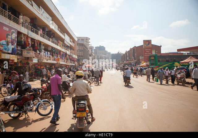City centre, Kampala, Uganda - Stock Image