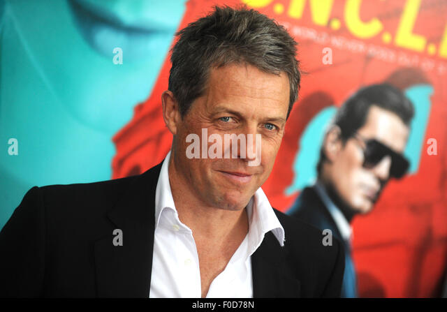 Hugh Grant attending the 'The Man From U.N.C.L.E.' premiere at Ziegfeld Theater on August 10, 2015 in New - Stock Image