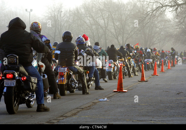 Hells Angels Toys For Tots : Bikers charity stock photos images