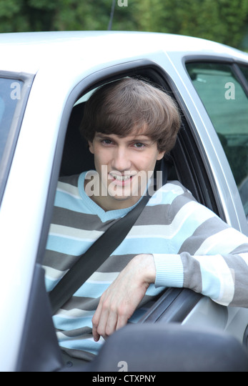 Front Of Car With Man Leaning Window Stock Photos Amp Front