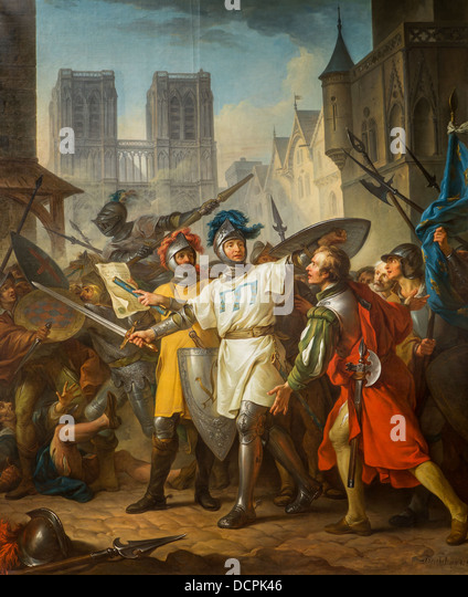 18th century  -  Recovery of Paris on the English, 1787 - Jean-Simon BarthélemyPhilippe Sauvan-Magnet / Active - Stock Image