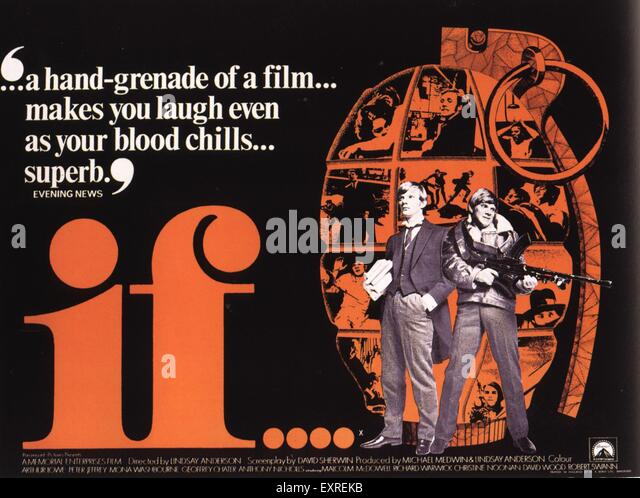 1960s UK If Film Poster - Stock Image