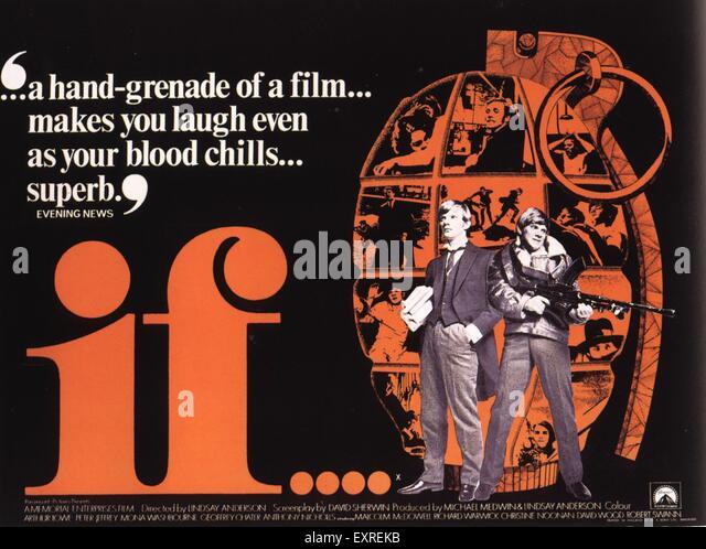 1960s UK If Film Poster - Stock Image