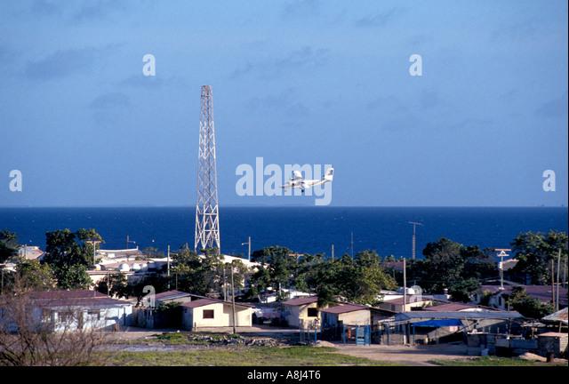 Los Roques Archipelago Venezuela, Gran Roque plane landing - Stock Image
