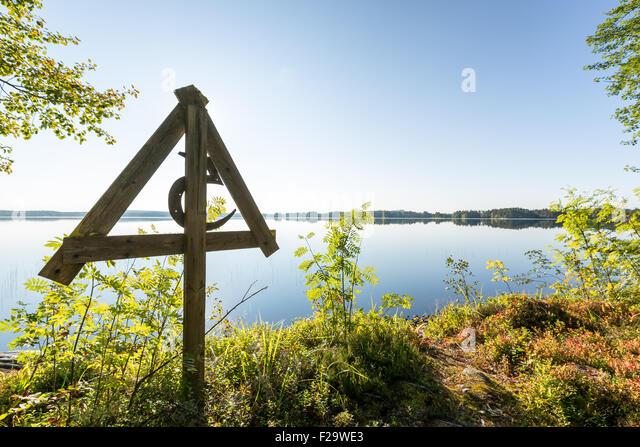 Canoeing at Wanha Witonen route, Lylyniemi, Jämsä, Finland, Europe, EU - Stock Image