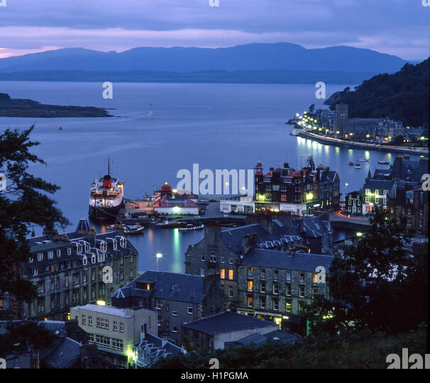 Oban in the 1970's, Argyll, Scotland - Stock Image